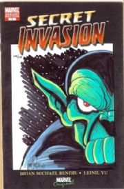Secret Invasion #1 Blank Variant Dynamic Forces Signed Remarked Skrull DF COA Marvel comic book